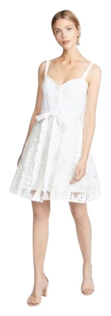 Item - White Bustier Lace Short Night Out Dress Size 6 (S)