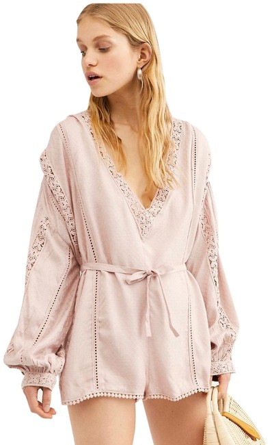Free People Pink Intimately I Mean It Rober Romper/Jumpsuit Free People Pink Intimately I Mean It Rober Romper/Jumpsuit Image 1