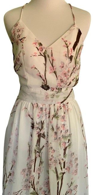 Item - Pink and White Sweet Long Casual Maxi Dress Size 2 (XS)