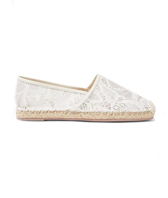 Item - White Garavani Leather-trimmed Corded Lace Espadrilles Flats Size US 11 Regular (M, B)