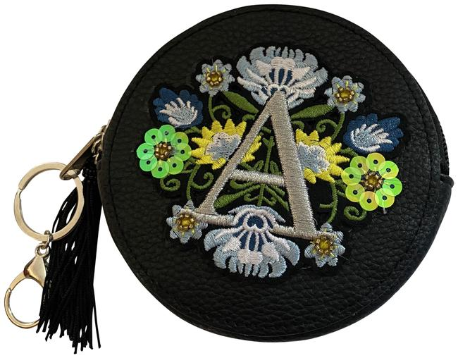 Item - A Initial Flower Pouch Key Ring Multicolor Imitation Leather Clutch