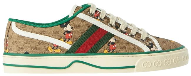 Item - Brown Disney Printed Canvas Sneakers Size EU 42 (Approx. US 12) Regular (M, B)