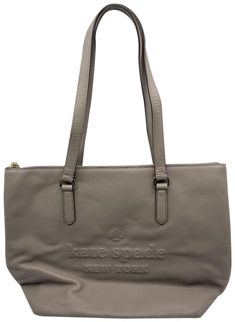 Item - Large Gray Leather Tote