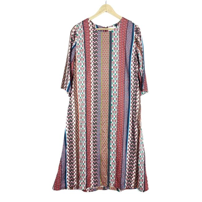 Item - Multi-color Swing Mid-length Short Casual Dress Size 6 (S)