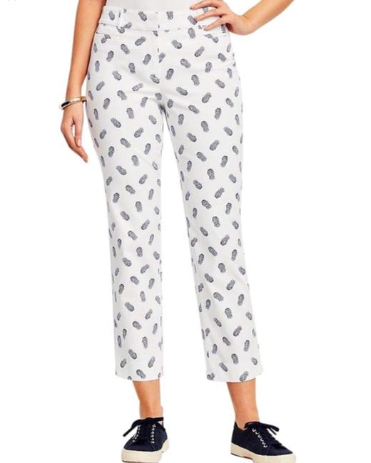 Item - White Pineapple Cropped Pants Capris Size 4 (S, 27)