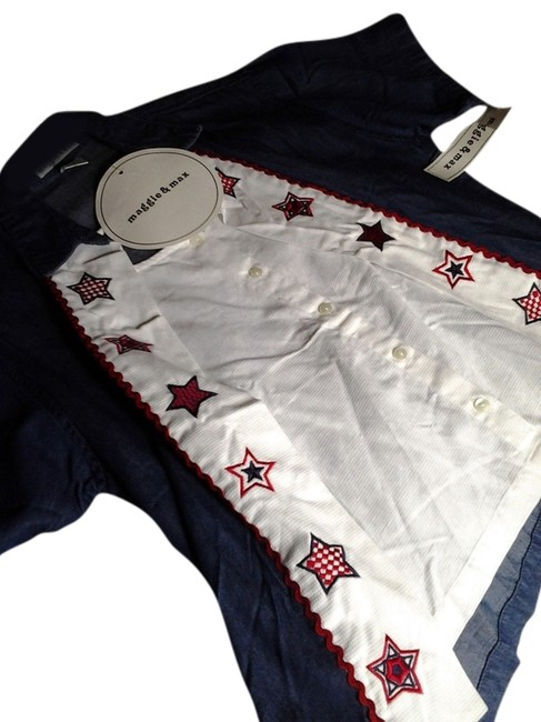 Preload https://item5.tradesy.com/images/red-white-and-blue-button-down-top-size-10-m-2766139-0-0.jpg?width=400&height=650
