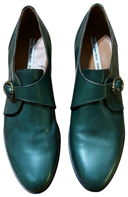 Item - Green Leather Loafers Flats Size EU 39 (Approx. US 9) Narrow (Aa, N)