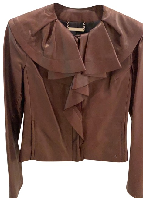 Item - Chestnut Fab Dvf with Ruffle Collar Jacket Size 2 (XS)