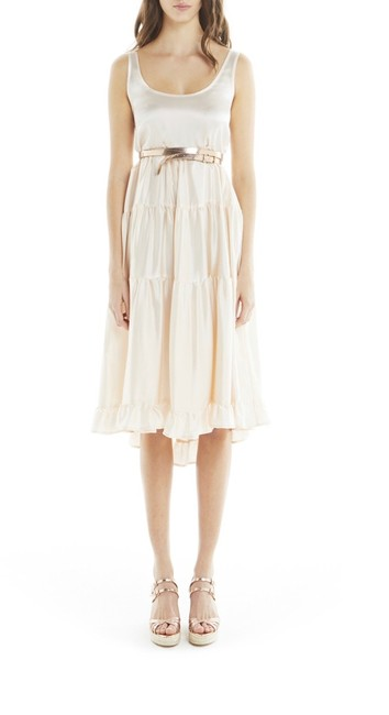 Item - Nude New Paris Silk Tiered Mid-length Casual Maxi Dress Size 4 (S)