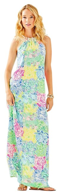 Item - Multicolor Shawn Long Night Out Dress Size 4 (S)