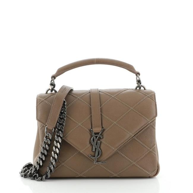 Item - Monogram Collège Classic Quilted Medium Brown Leather Cross Body Bag