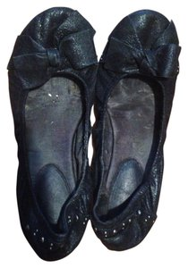 ALDO Black Metallic Flats