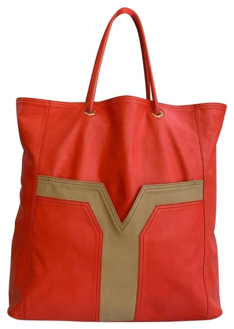 Item - Easy Bag Shoulder/Hand 257211 Red Lambskin Leather Tote