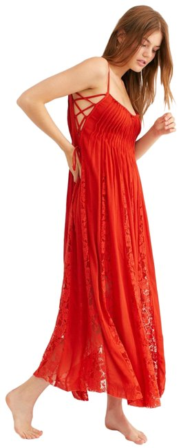Item - Red/Orange Hailee Long Casual Maxi Dress Size 2 (XS)