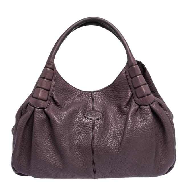 Item - Italy Purple Leather Hobo Bag
