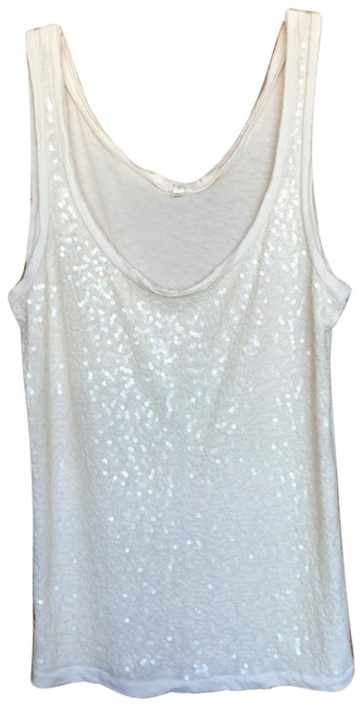 Item - Cream Sequin Tank Top/Cami Size 4 (S)