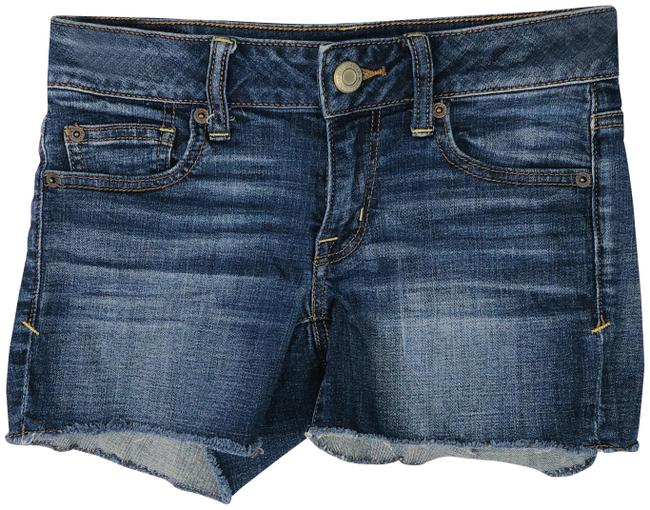American Eagle Outfitters Blue Super Stretch Jean Shorts Size 0 (XS, 25) American Eagle Outfitters Blue Super Stretch Jean Shorts Size 0 (XS, 25) Image 1