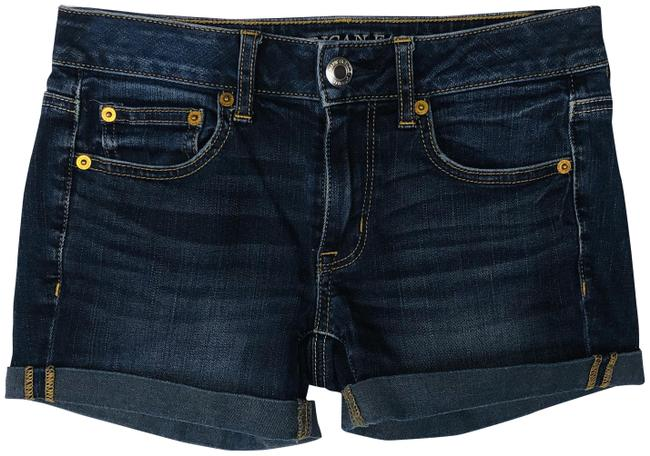 Item - Blue Super Stretch Boy Midi Jean Shorts Size 00 (XXS, 24)