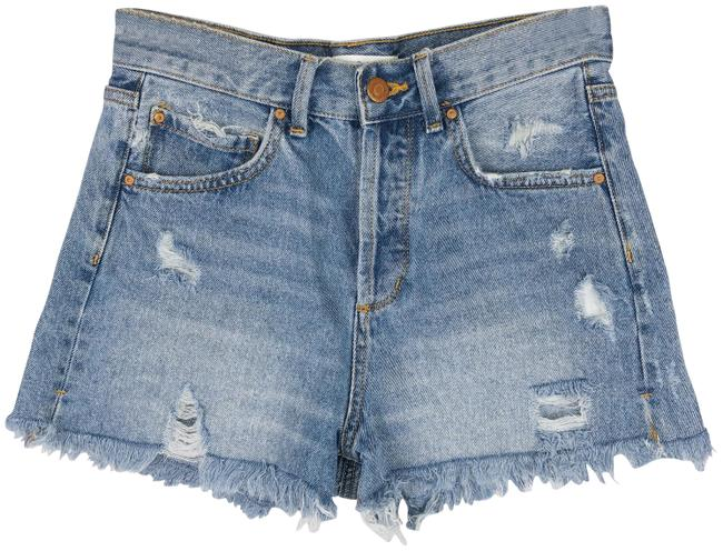 Item - Blue 1975 Button Fly High Rise Jean Shorts Size 2 (XS, 26)