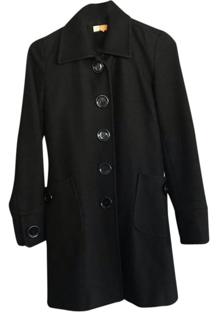 Item - Black XS Tulle Wool Coat Size 0 (XS)