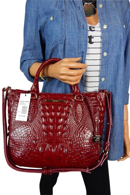 Item - Small Lena Chianti Melbourne Red Leather Satchel