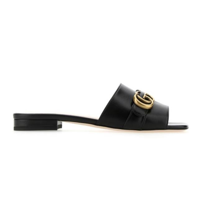 Gucci Marmont Gg Logo Leather Slippers Slides Sandals Size EU 36 (Approx. US 6) Regular (M, B) Gucci Marmont Gg Logo Leather Slippers Slides Sandals Size EU 36 (Approx. US 6) Regular (M, B) Image 1