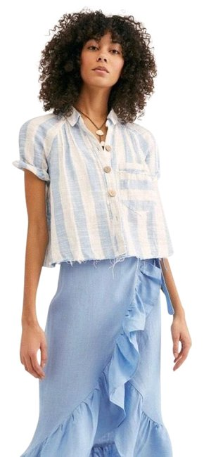 Item - Away At Sea Button-down Top Size 6 (S)