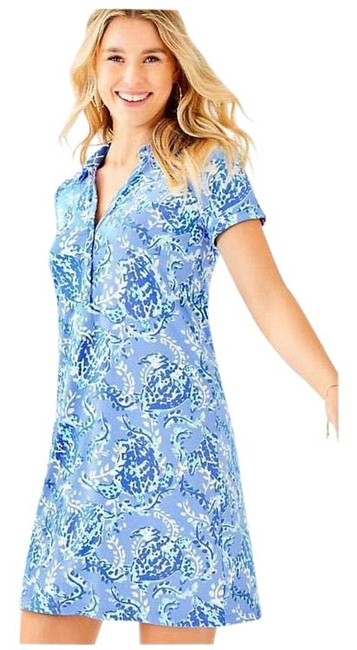 Lilly Pulitzer Blue Sadie Polo Short Casual Dress Size 0 (XS) Lilly Pulitzer Blue Sadie Polo Short Casual Dress Size 0 (XS) Image 1
