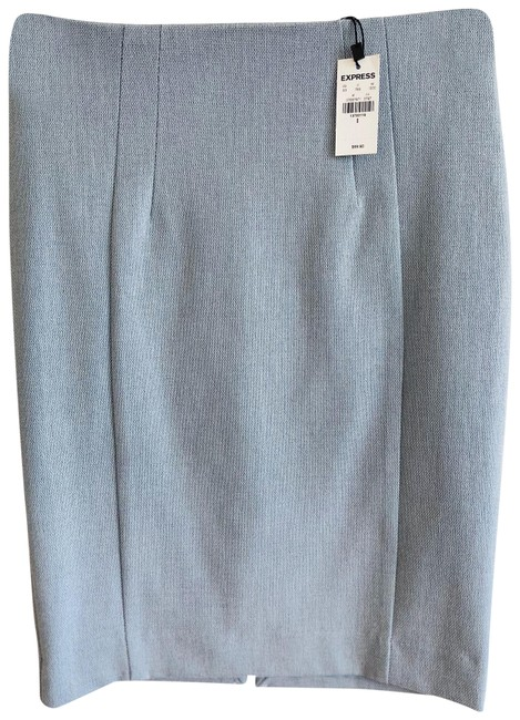 Item - Grey/Blue High Waisted Pencil New Skirt Size 0 (XS, 25)