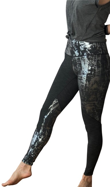 "Item - Silver and Gray Wunder Under High-rise Tight 28"" Activewear Bottoms Size 6 (S, 28)"