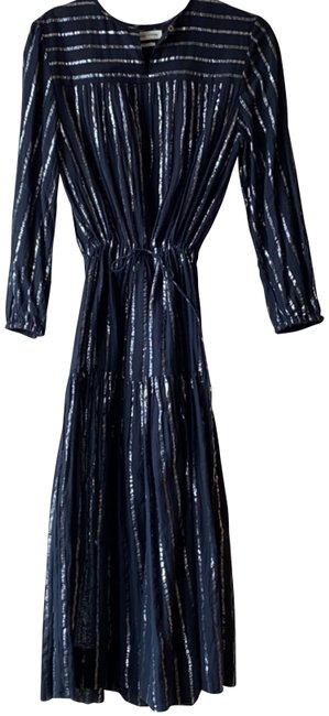 Item - Black and Silver & Metallic Long Casual Maxi Dress Size 6 (S)