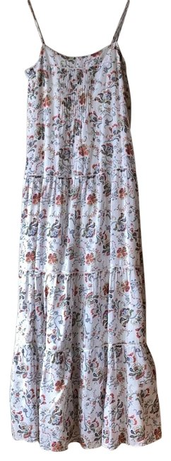 Item - White Floral Summer Cotton Long Casual Maxi Dress Size 2 (XS)