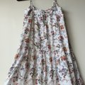Joie White Floral Summer Cotton Long Casual Maxi Dress Size 2 (XS) Joie White Floral Summer Cotton Long Casual Maxi Dress Size 2 (XS) Image 5