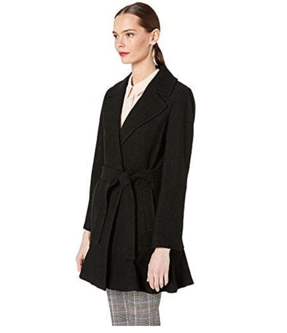 Item - Black New York Women's Belted Wool Twill Coat Size 12 (L)