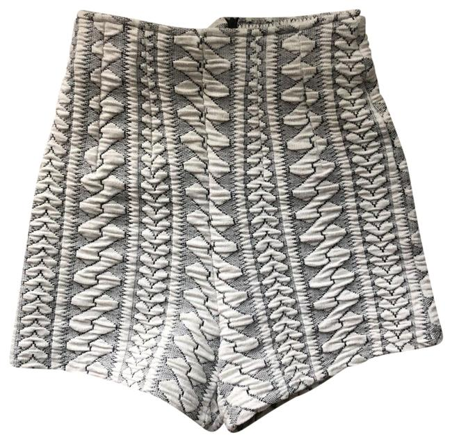 Item - White with Gray Textured High Waist Shorts Size 4 (S, 27)