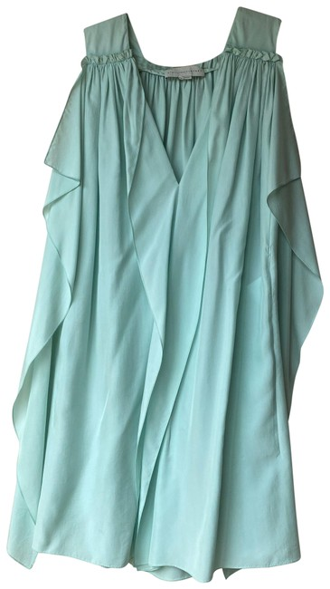 Preload https://img-static.tradesy.com/item/27667519/stella-mccartney-green-mint-silk-short-cocktail-dress-size-6-s-0-1-650-650.jpg