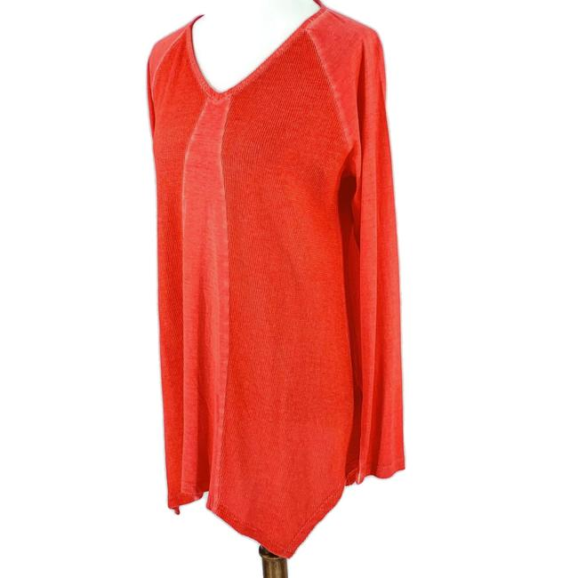 LOGO by Lori Goldstein Coral Jersey Tunic Size 10 (M) LOGO by Lori Goldstein Coral Jersey Tunic Size 10 (M) Image 1