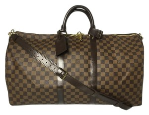Louis Vuitton Keepall 55 Bandouliere 55 Brown Travel Bag