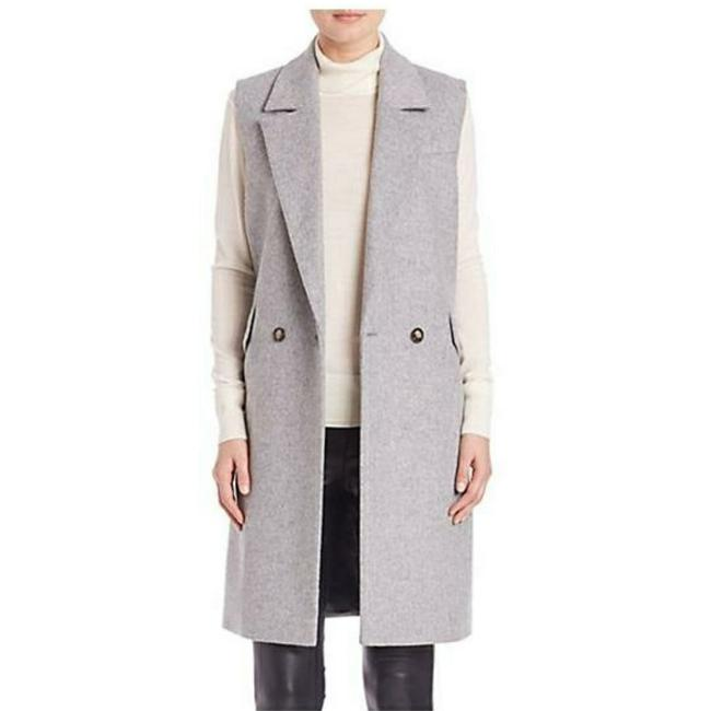 Item - Grey Set Urban Deluxe Double Breasted Sleeveless Wool Coat Size 6 (S)