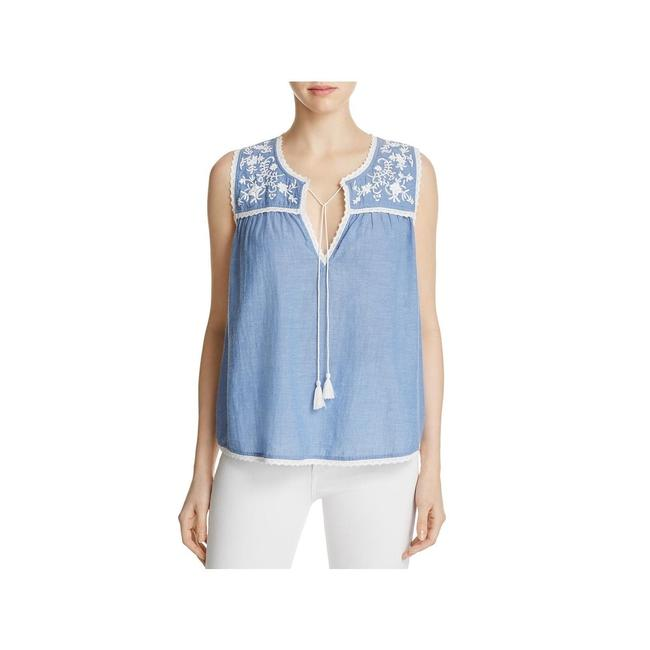 Item - Blue Womens Francesca Chambray Embroidered Tank Top/Cami Size 16 (XL, Plus 0x)