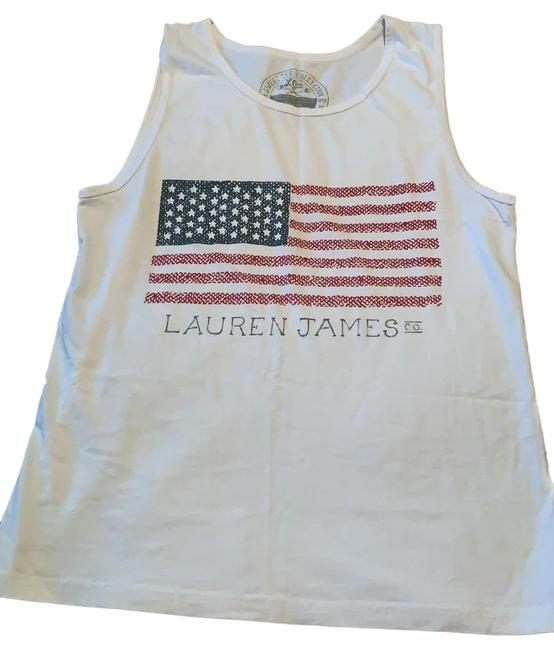 Item - White Red Blue American Flag Tank Top/Cami Size 4 (S)