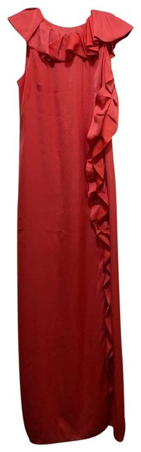 Item - Coral/Peach In Color Long Formal Dress Size 10 (M)