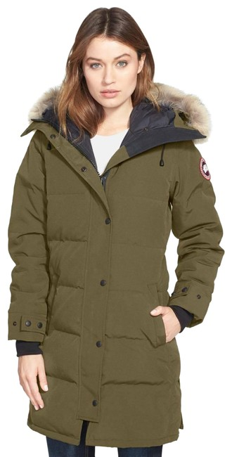 Preload https://img-static.tradesy.com/item/27668503/canada-goose-green-shelburne-coyote-fur-down-parka-womens-military-coat-size-4-s-0-1-650-650.jpg