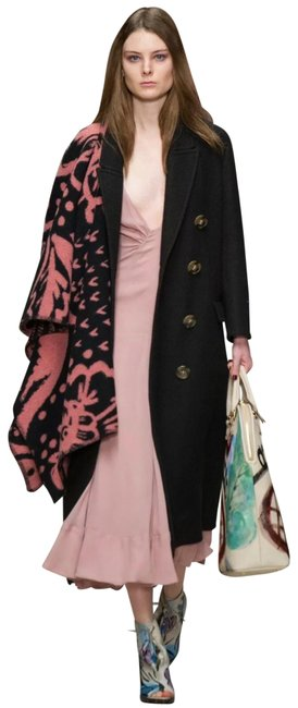 Item - Runway F/W14 Pink Black Thistle Print Blanket Poncho/Cape Size OS (one size)