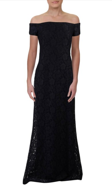 Item - Navy Polyester Luiana Formal Bridesmaid/Mob Dress Size 12 (L)