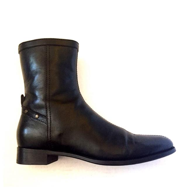 Item - Black Leather Motorcycle Studded Moto Ankle Boots/Booties Size US 9.5 Regular (M, B)