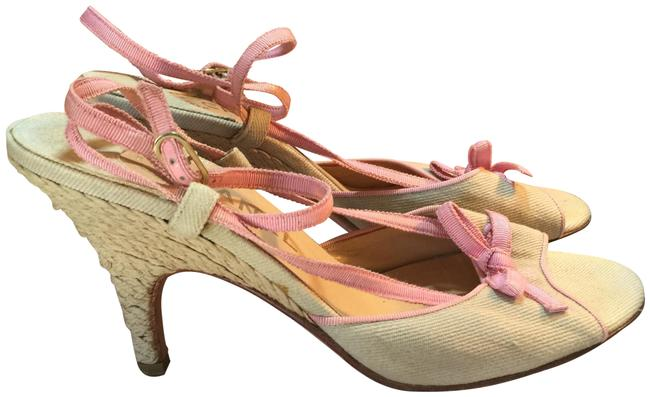 Item - Pink Tan Italy Rope Heels Sandals Size EU 39 (Approx. US 9) Regular (M, B)