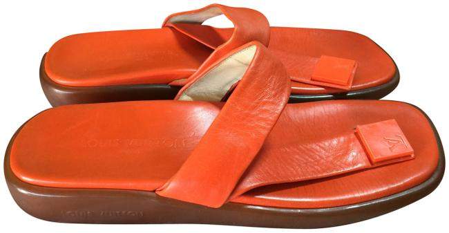 Item - Orange Brown Thong Italy Mules/Slides Size US 9.5 Regular (M, B)