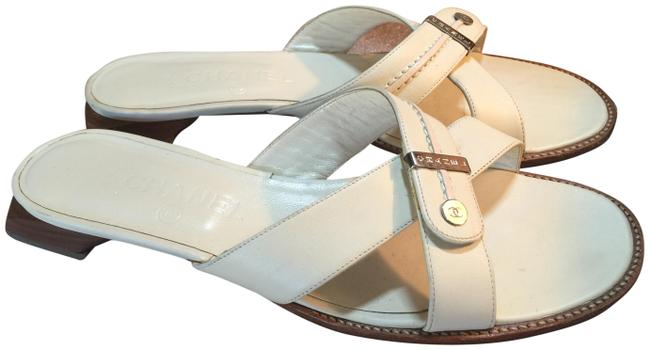 Item - White Silver Brown Italy Mules/Slides Size EU 38 (Approx. US 8) Regular (M, B)
