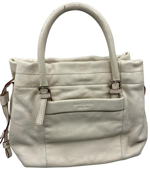 Item - Medium Size Cream Saffiano Leather Shoulder Bag